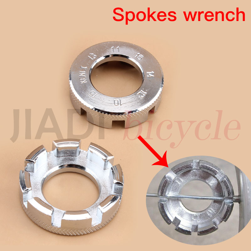 Bicycle Spokes Wrench Steel Bike Repair Tool Spoke Spanner MTB Wheel Rim Spanner Adjuster Spoke Nipple key Bicycle Accessories stainless steel bike cross spoke wrench nipple tool silver