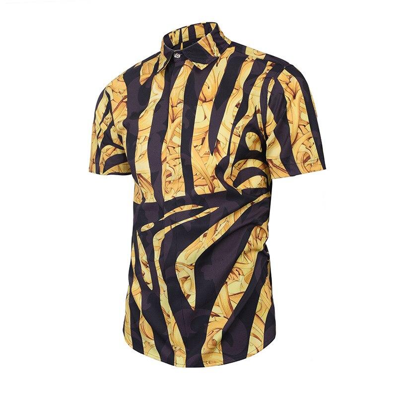 7167fd952dde EDSON ARANTES Male Shirt Short Sleeve Camisa Masculina Summer Floral Hawaiian  Shirt Streetwear Casual Slim Fit 3D Unique Shirts-in Casual Shirts from  Men s ...