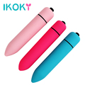 IKOKY Multi-speed Clitoris Stimulator AV Stick Mini Bullet Vibrator G-spot Dildo Vibrators Adult Sex Toys for Women Sex Products