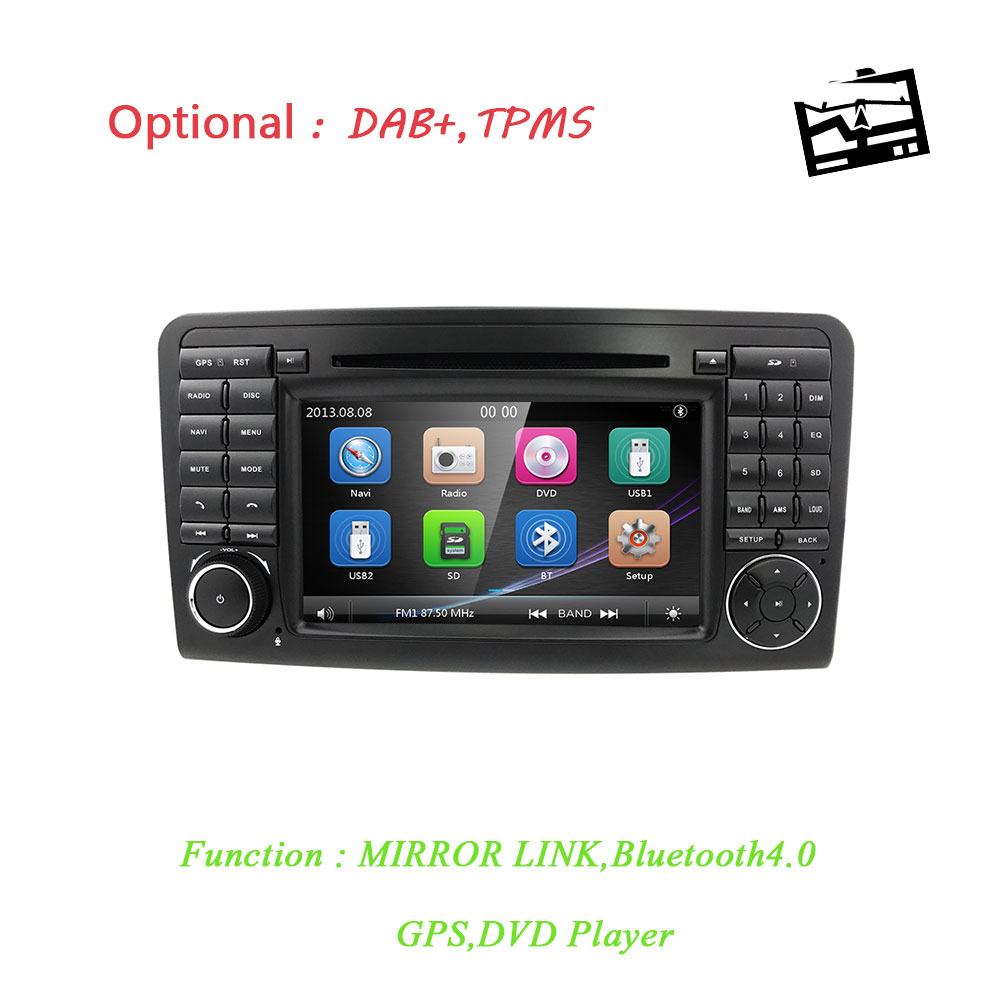 7 voiture DVD radio pour Mercedes Benz ML W164 ML300 350 450 500 320 ML63 AMG GL X164 GL 320 350 420 450 500 GPS Navigation USB RDS