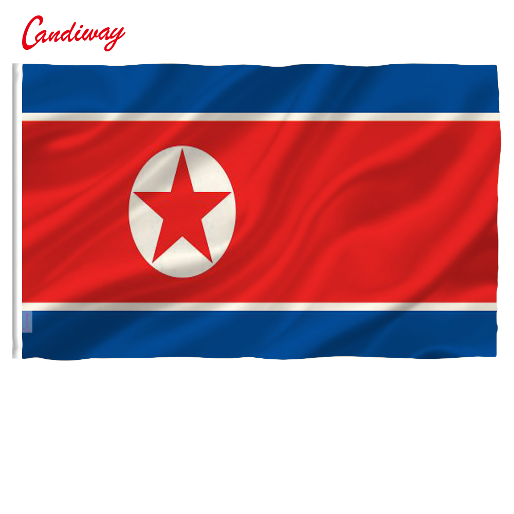 90 x 150cm Democratic People's Republic of Korea flag polyester flags big banners north korea flag NN081 image