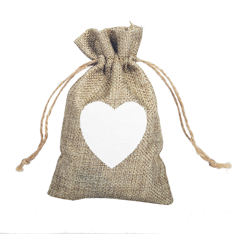 Love linen bag pockets wedding jewelry bags love gift candy sacks spot ...