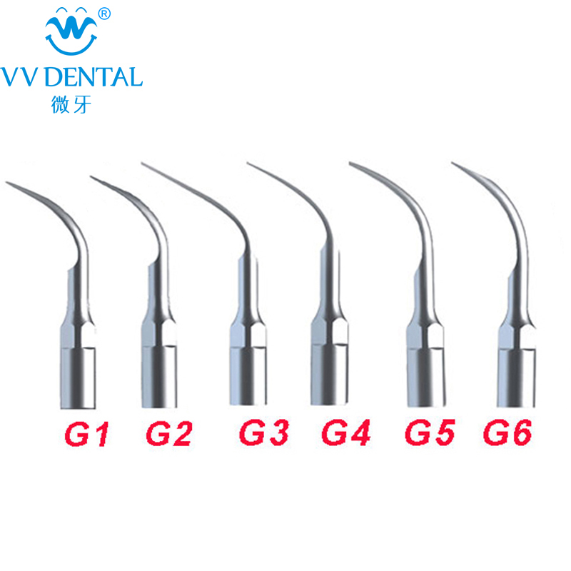 6Pcs/lot Ultrasonic  Dental Scaler Tips G1 G2 G3 G4 G5 G6 Compatible With EMS/ WOODPECKER Teeth Whitening Dental Scaler