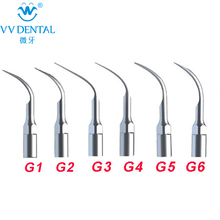 New 6Pcs/lot Ultrasonic  Dental Scaler Tips G1 G2 G3 G4 G5 G6 Compatible With EMS/ WOODPECKER Teeth Whitening Equipment