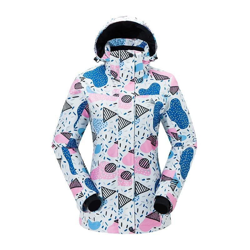 Combinaison de Ski en plein air simple Double planche chaude résistant à l'usure coupe-vent imperméable veste de Ski manteau de neige pour les femmes taille S-XXL