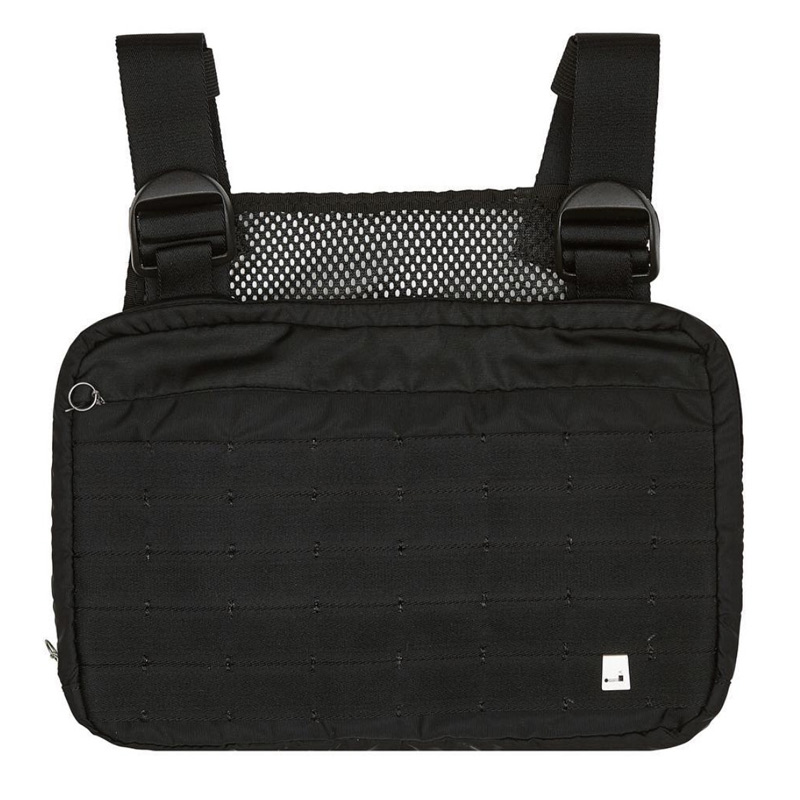 Moward 2019 Black Chest Rig Bags Waist Bag Hip Hop Streetwear Functional Tactical Chest Bag Cross Shoulder Bags Bolso Kanye West(China)