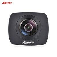 Original AMKOV AMK200S Wireless 360 Degrees Panorama CMOS Dual Lens WiFi Action Sports Camera 1290 960P