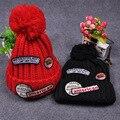 Мода Skullies Шапочки Вязание Шляпа С Американской Embroideried Патч для Женщины Мужчины Открытый Спорт Кап Хип-Хоп Шапка Зимняя шапочка