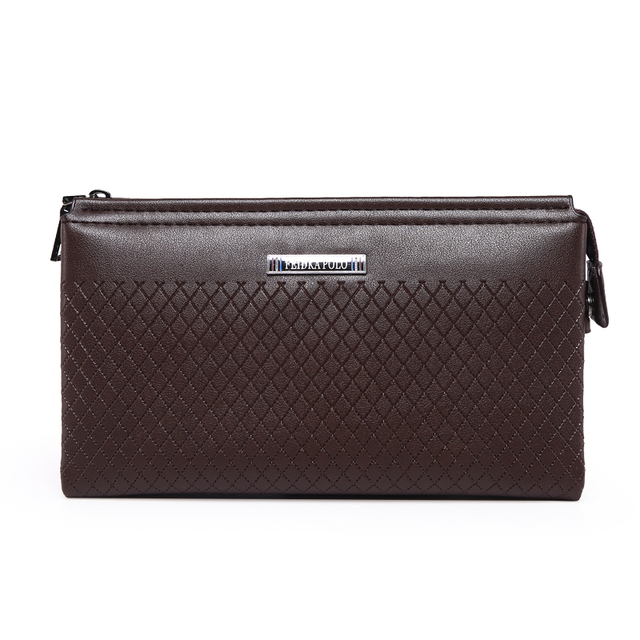 2016 Business Men's Wallets Solid Leather Long Wallet Portable Cash Purses Casual Standard Wallets Male Clutch Bag