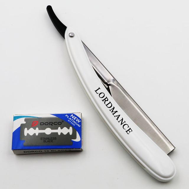 1set Men Straight Barber edge Razors Folding Shaving Knife Hair Removal Tools With 10pcs Blades