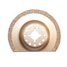 Hoja de sierra de medio círculo de 65/88mm, hoja de sierra multifuncional oscilante de carburo de diamante, herramienta de corte de hoja de sierra Universal