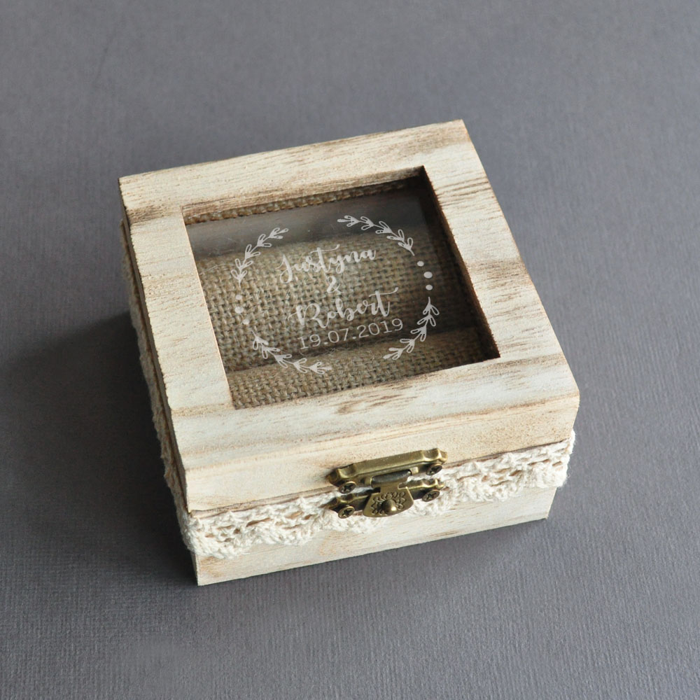 Personalized Rustic Wedding Bearer Box,Wedding Ring Box,Engraved Wooden Wedding Ring Holder,Engagement Box,Proposal Ring Box