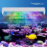 9000 K Chihiros סדרה Super Slim LED אלומיניום תאורת אקווריום הוד עבור SPS טנק ימי שונית אלמוגים דגי מים מלוחים LED אור