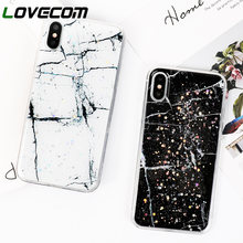LOVECOM Phone Case For iPhone 6 6S 7 8 Plus Platinum Marble Star Pattern  Epoxy Soft. 4 Colors Available 429ddf0c4f13
