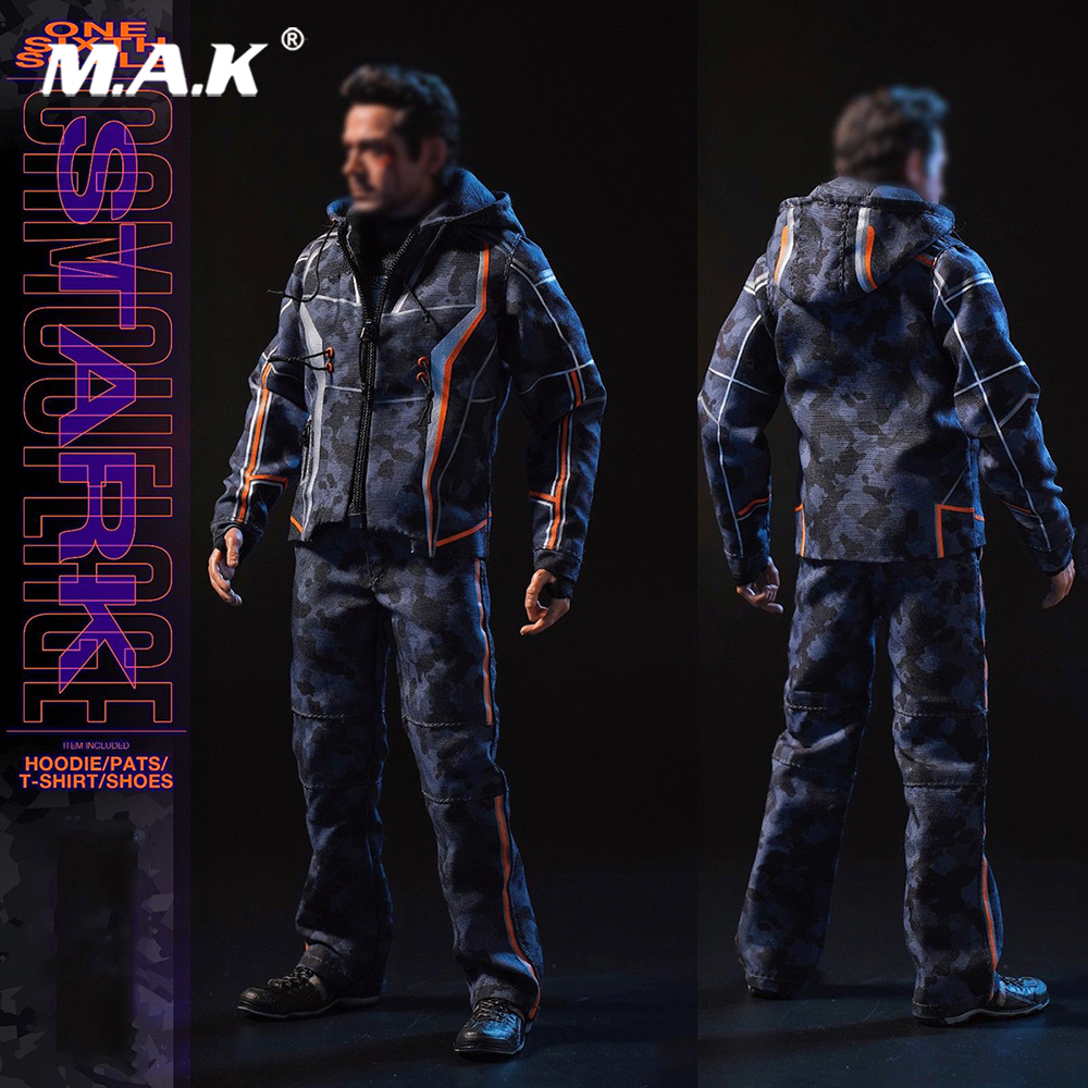 Custom DJ-011 Tony Nano Battle Casual clothes Avengers Movie F 12 Inches HT TTM21 Body Male Action Figures 1 6 fashion custom air force jacket set punk jacket set with canvas bucket bag f 12 inches g dragon male body action figures