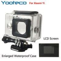 XiaoMi Yi Camera Waterproof Case External Protector Case LCD Screen Display Monitor For Xiao Yi Accessories