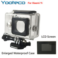 XiaoMi Yi Camera Waterproof Case External Protector Case LCD Screen Display Monitor For Xiao Yi Accessories