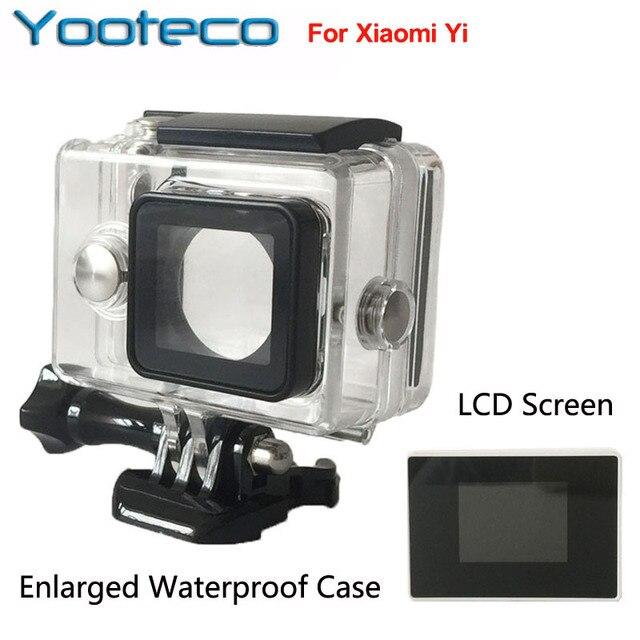 XiaoMi Yi Камеры Водонепроницаемый Корпус Внешний протектор чехол + ЖК-Экран Монитора Для Сяо YI Yi Аксессуары Набор