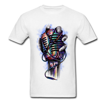 T-Shirt moderne musique Microphone