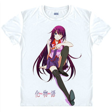 Bakemonogatari Monstory Anime gifts Christmas T shirts Japanese anime shirt 3d print Cosplay t shirt Men
