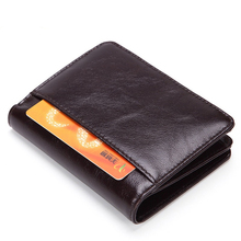 Weduoduo Brand Genuine Leather Men Wallet Fashion Short Mens Credit Card Holder for and Women Male Standard Purse