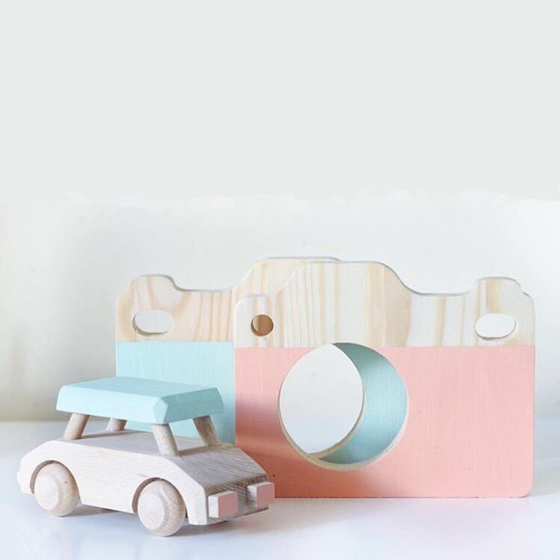 LM1217 Lovely Cute Wooden Camera Toys For Baby Kids Room Decor Furnishing Articles Child Christmas Birthday Gifts Nordic Europea