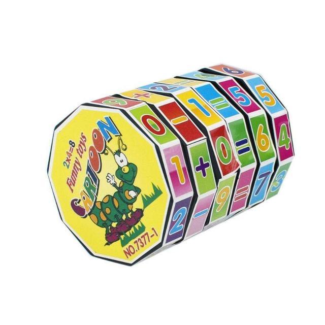 Пластиковый цифровой магический куб детский цилиндр Математика сложение вычитание расчет обучающая игрушка для детей раннего образования игрушки