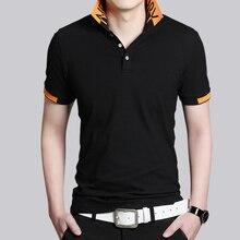 Hot Sale New 2016 Fashion Brand Men Polo shirt Solid Color short-Sleeve Slim Fit Shirt Men Cotton polo Shirts Casual Shirts 5XL