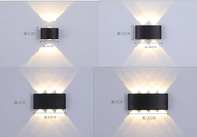 AC90-260V ip65 wall light Wall Mounted Courtyard 2w4w6w8W wall lamp house outdoor lighting