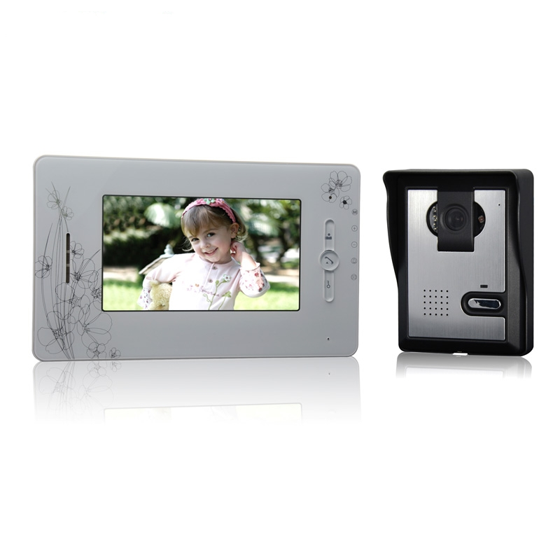 (1 Set) 7 Inch Color Screen 1 To 1 Video Intercom Home Use Talk-back Door Bell Night Visible Camera Waterproof Access Control