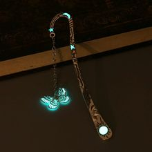 Glow In The Dark Luminous Book Marker Creative Butterfly Bookmark Label School Office Stationery