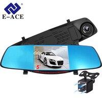 E ACE A27 5.0 Inch Automobiles Video Camera 1080P FHD The Registrar Car Dvr Front And Rear Camera Mirror DVR Automotive Dash cam