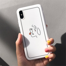 GYKZ Abstract Art Girl Line Phone Case For iPhone XS MAX XR X 7 6 6s 8 Plus Soft Silicone White Back Cover For iPhone XR Coque цены