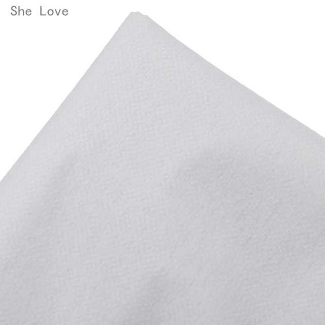 Chzimade 100cm 25g 45g White Non-woven Fabric Interlinings Iron On Sewing Patchwork Single-sided Adhesive Lining DIY 4
