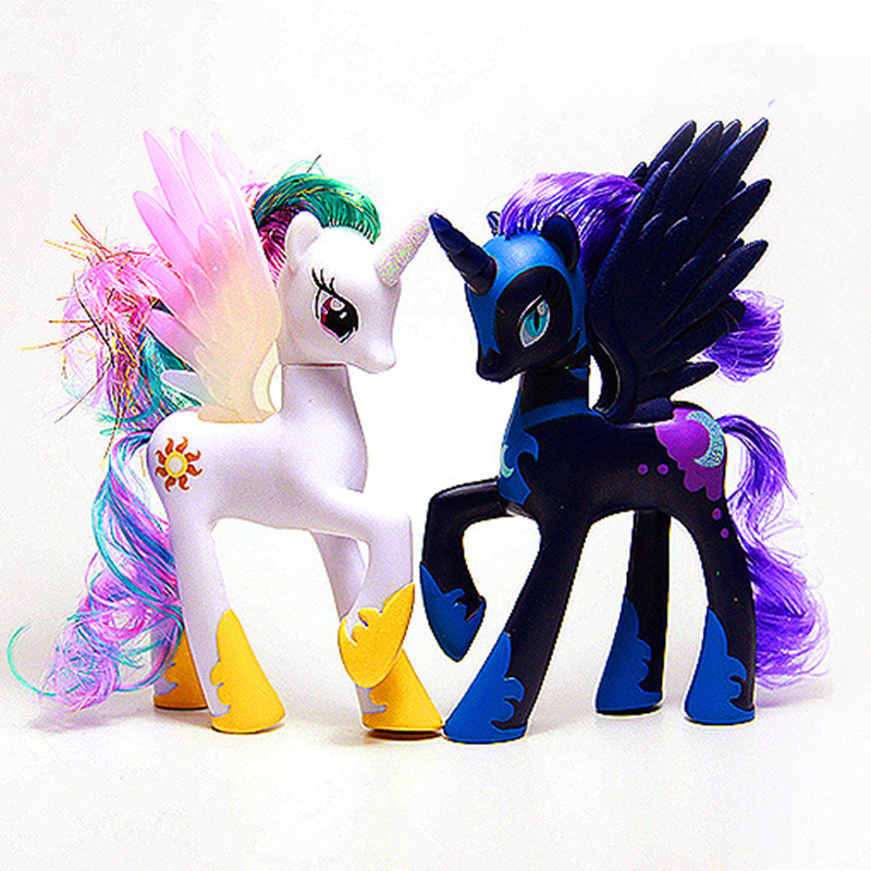 Horse Toys Twilight Sparkle Princess Celestia Rainbow Unicorn Pinkie Pie Princess Luna Model Figure Toys Doll For Kids Gift 14cm pony toys horse unicorn pet in action figure colorful different styles doll kids toy model pvc doll for girls gift