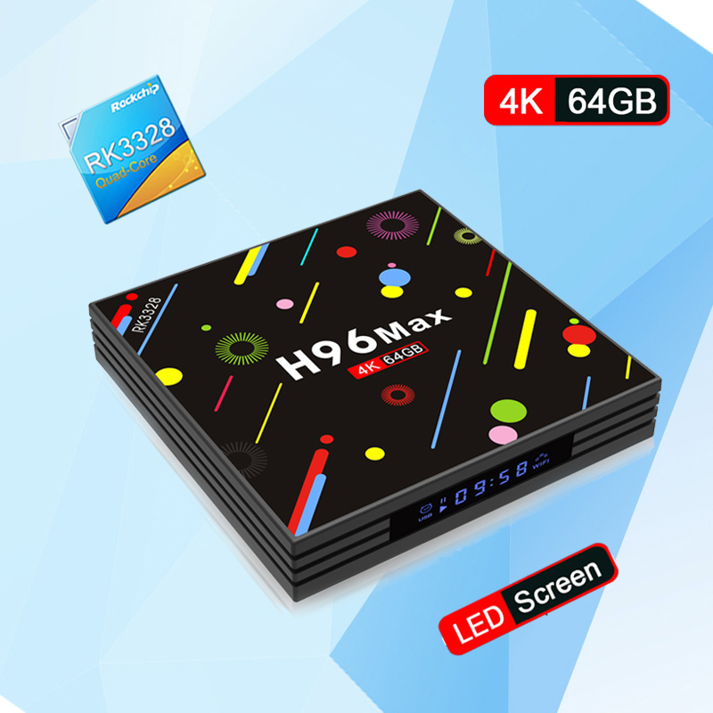 H96 MAX 4GB RAM 64G ROM Android 7.1 smart TV box Rockchip RK3328 Quad-core 4K 2.4G 5G WIFI Support H.265 BT4.0 PK TX9 PRO x92
