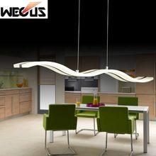 (Wecus) Популярные формы волны подвесной светильник, столовая фойе кухня подвесной светильник, приостановить светильник 110 В 220 В