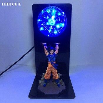 Dropship Dragon Ball Son Goku bomba de fuerza LED noche luz Dragon Ball Z lámpara de mesa para Fans de Anime estudio dormitorio Decoración