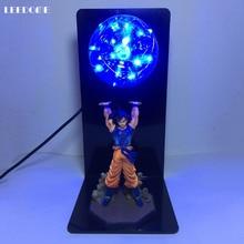 Dropship Dragon Ball Son Goku siła bomba LED lampka nocna Dragon Ball Z lampą stołową dla fani anime studium dekoracja sypialni