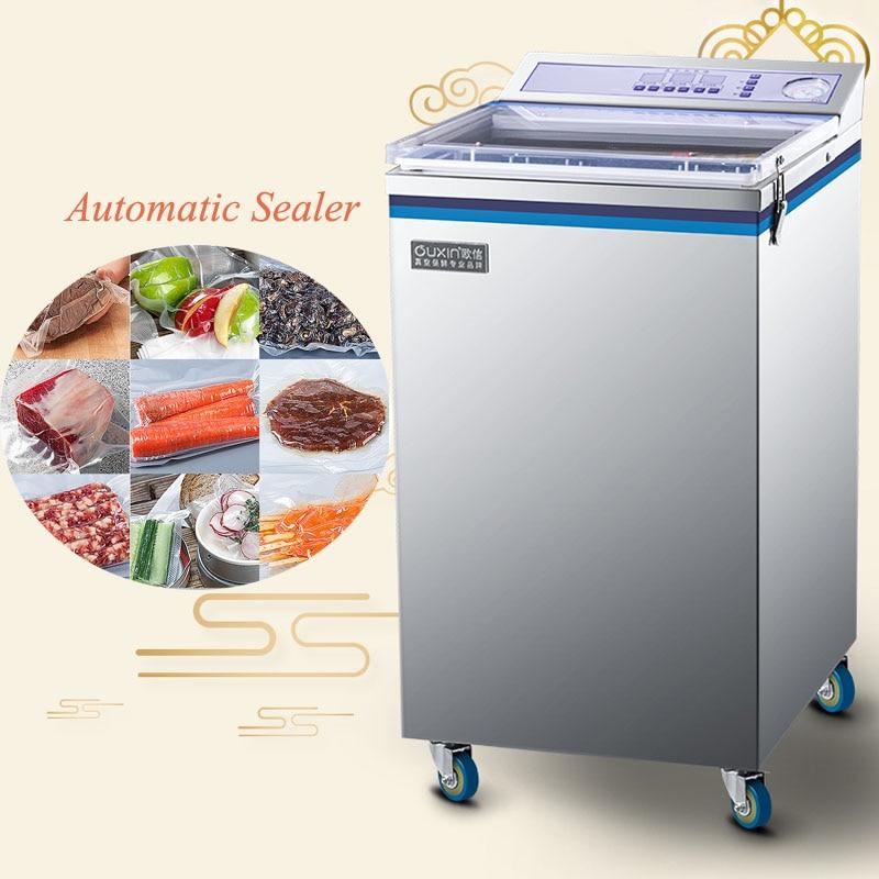 Otomatik islak ve kuru gıda vakumlama makinesi vakum paketleme makinesi ticari ev ZK-320
