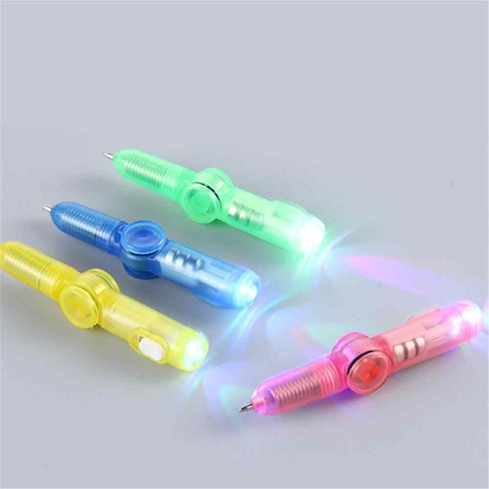 LED Spinning długopis długopis Fidget Spinner ręcznie Top blask w ciemnym świetle EDC zabawki odciążające stres, zabawki dla dzieci prezent szkolne