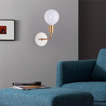 Mármore De Vidro Quarto Lâmpada De Parede Simples E Moderno Corredor Estudo Nordic Criativo Decoração Sala De Estar Sala De Jantar Lâmpada De Parede