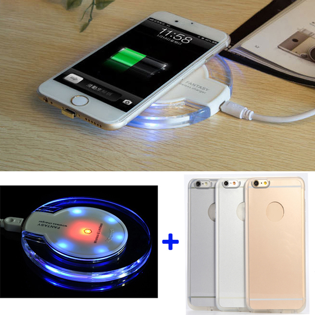 san francisco 5a827 49354 US $19.5 |Qi Wireless Charging Case Receiver For Apple iPhone 6 6s Wireless  Charger Kit For iPhone 6 Plus 6s Plus (Pad Color:Black,White)-in Mobile ...