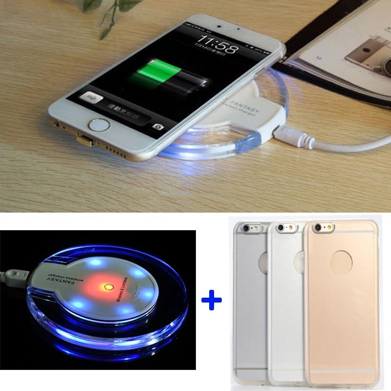 imágenes para Qi carga inalámbrica receptor caso para apple iphone 6 6s kit cargador inalámbrico para iphone 6 plus 6s plus (Pad Color: Negro, Blanco)