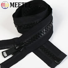 Meetee 15# Open-end Resin Zipper 70/80/90/100cm Down Jacket Coat Zippers for Sewing DIY Garment Accessories