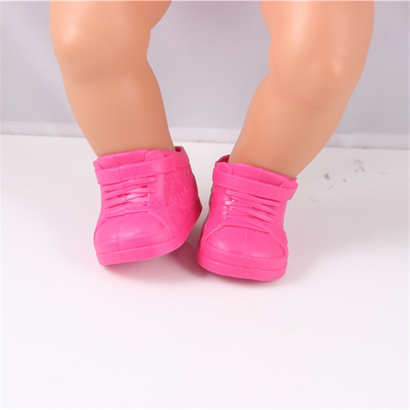 Doll Accessories, Red Shoes Fit for 43cm Doll Baby Born Zapf Americal Girls Children Best Birthday Gift Christmas Gift meired grid jumpsuit hat wear fit 43cm baby born zapf children best birthday gift only sell clothes