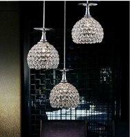 New Modern Luxury Crystal Bar Suspension Lighting Pendant Lamp Dinner Room Kitchen Restaurant Light Dining Room