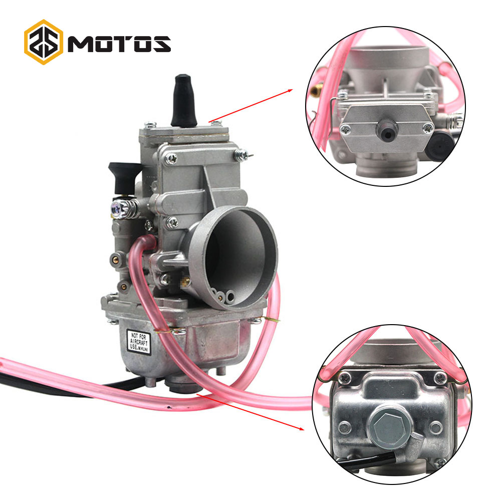 ZS MOTOS Motorcycle Carburador For MIKUNI 32mm 34mm TM32 TM34 Flat Slide Smoothbore Carb For 200cc