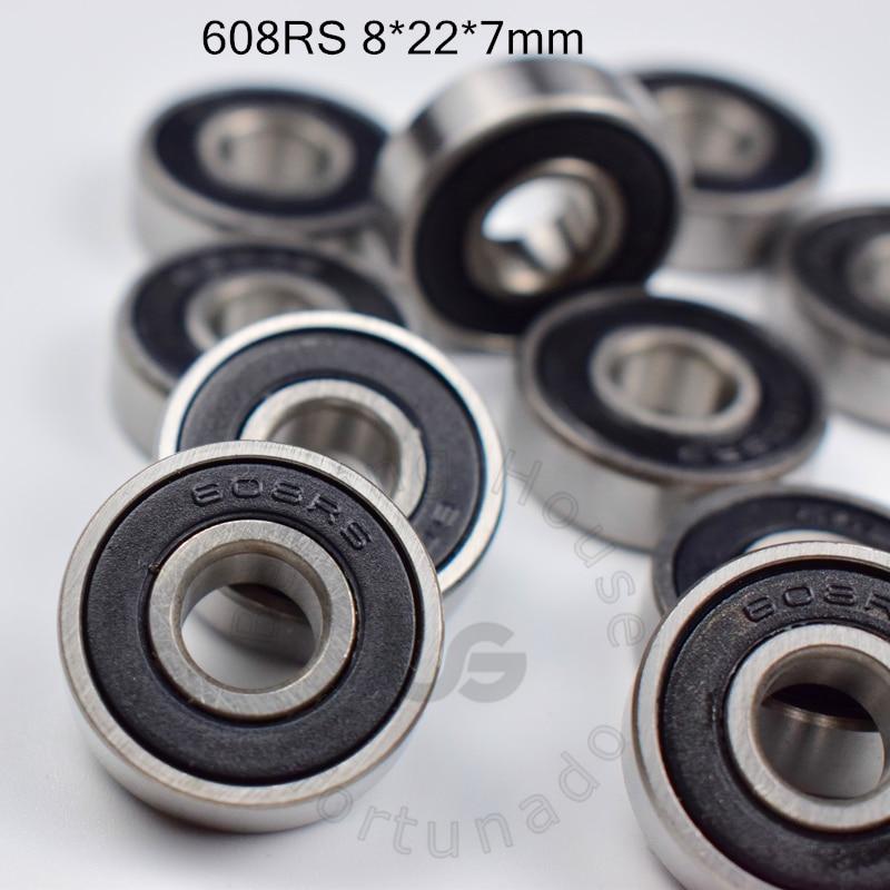 608 608RS bearing 8*22*7(mm) free shipping ABEC-5 bearings 10pcs rubber Sealed Bearing 608 608RS chrome steel bearings все цены