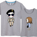 Fashion Women Men Descendants Of The Sun Couples T Shirt Cool Song Joong Ki Tee Lovers T-shirt Korean Short Sleeve Cute CP Tops